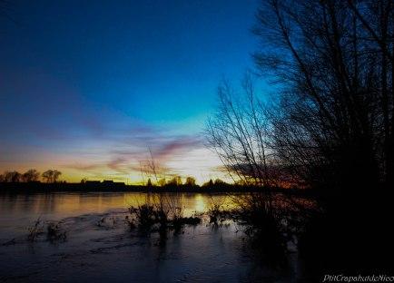 Lueur du soir bord de Loire